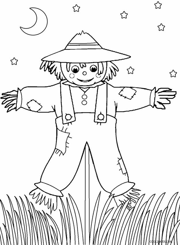 s is for scarecrow coloring pages - photo #12