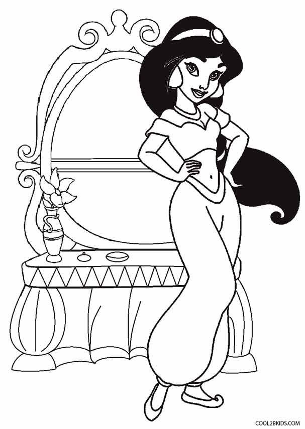 Printable Jasmine Coloring Pages For Kids