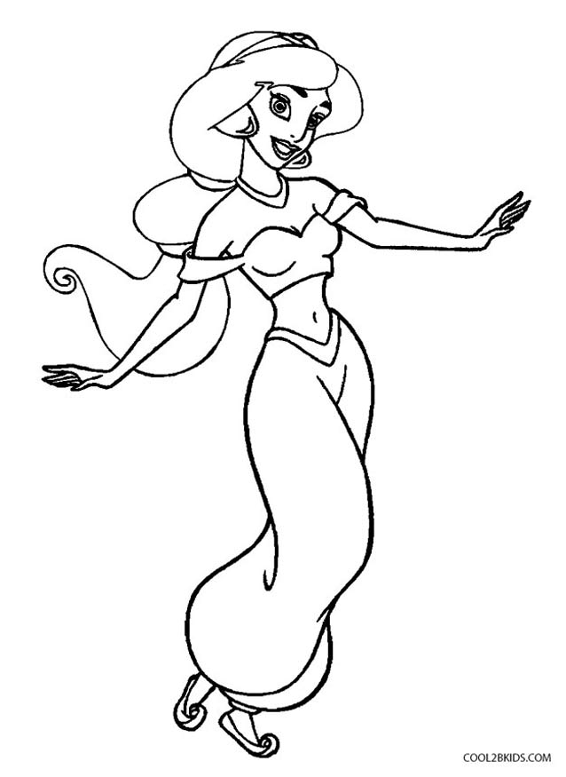 jasmine coloring pages to print - photo#5