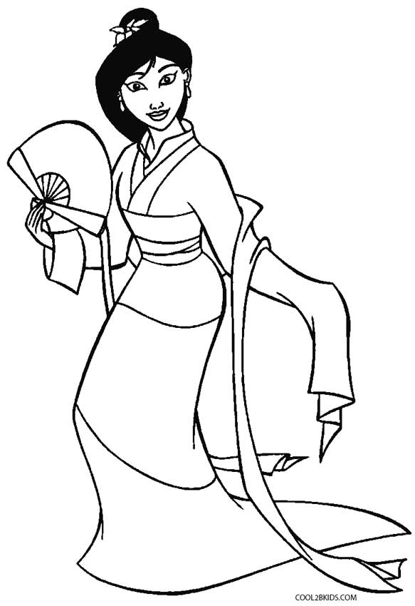 Printable Mulan Coloring Pages For Kids Cool2bKids