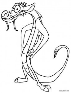 Mulan and Mushu Coloring Pages
