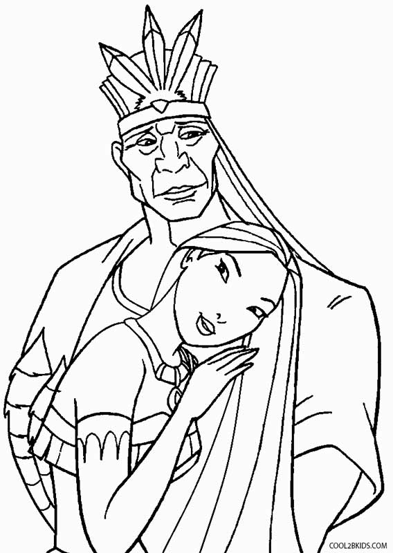 coloring pages pocahontas - photo#30