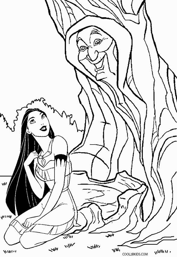 coloring pages pocahontas - photo#33