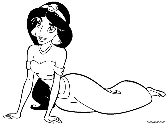 Princesa Jasmin Para Colorear: Printable Jasmine Coloring Pages For Kids
