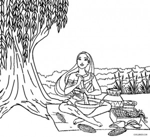 Printable Pocahontas Coloring Pages