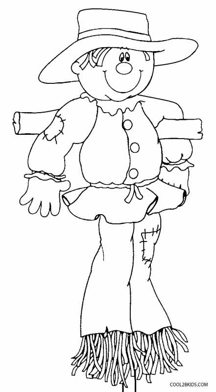 s is for scarecrow coloring pages - photo #42