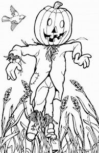 Scarecrow Coloring Pages Printable