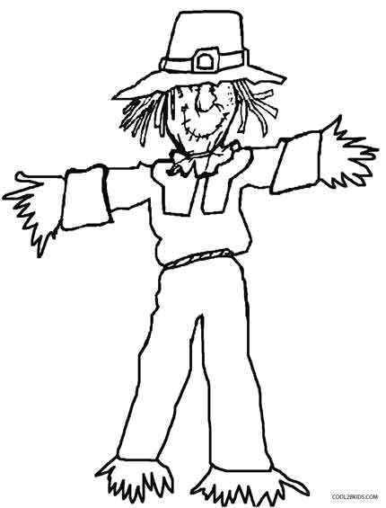 s is for scarecrow coloring pages - photo #34