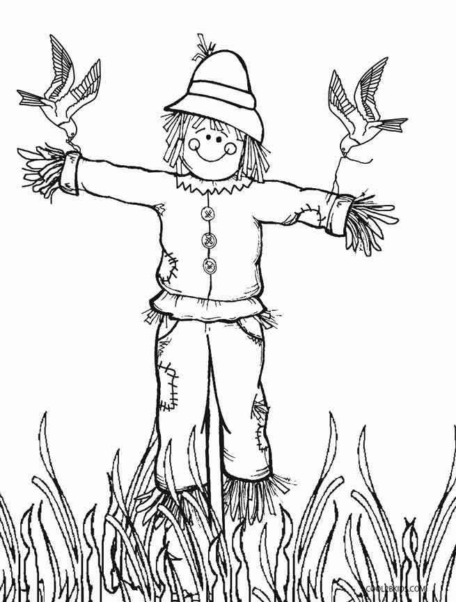 image about Scarecrow Printable titled Printable Scarecrow Coloring Web pages For Youngsters Great2bKids