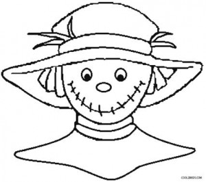 8x11 girl scarecrow coloring pages | Printable Scarecrow Coloring Pages For Kids | Cool2bKids