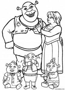 Printable Shrek Coloring Pages