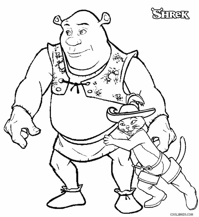 shreck coloring pages - photo#9