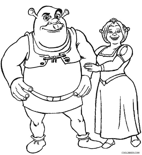 schreak coloring pages free - photo#3