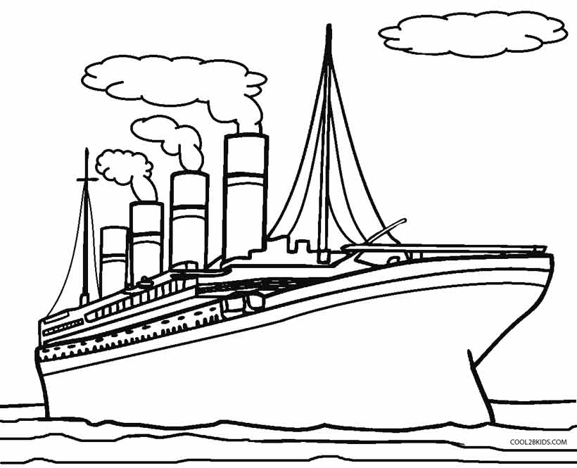 titanic coloring pages free - Kids Free Coloring Pages