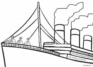 Titanic Coloring Pages for Kids to Print