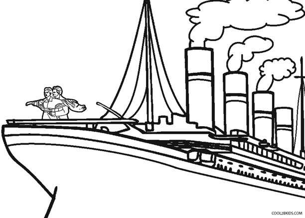 Coloring pages titanic ~ Printable Titanic Coloring Pages For Kids | Cool2bKids