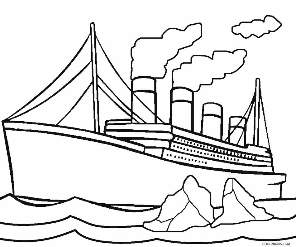 Colouring Pages Print : Printable titanic coloring pages for kids cool2bkids