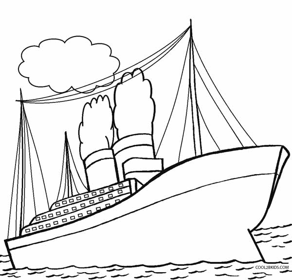 Printable titanic coloring pages for kids cool2bkids for Battleship coloring pages