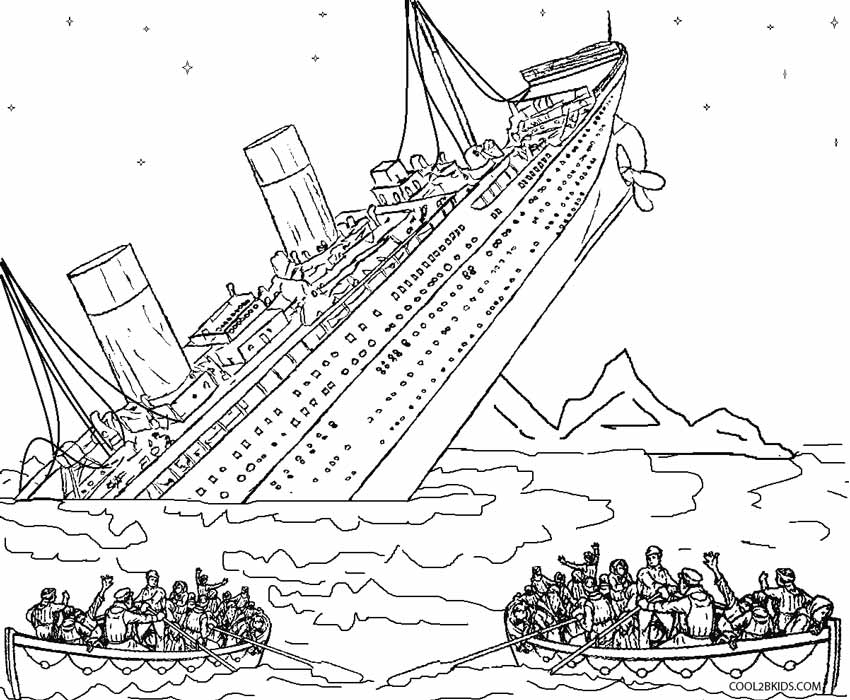 titanic sinking coloring pages