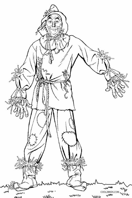 wizard oz coloring pages - photo#11