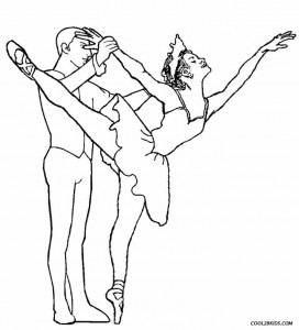 Coloring Pages Of Ballet Shoes
