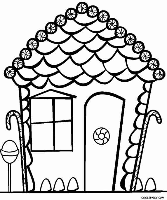 blank gingerbread house coloring pages