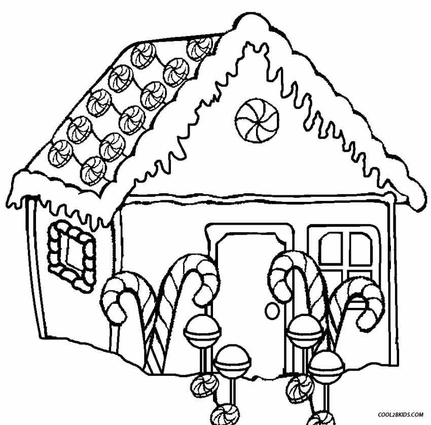 gingerbread house candy coloring pages - photo#7