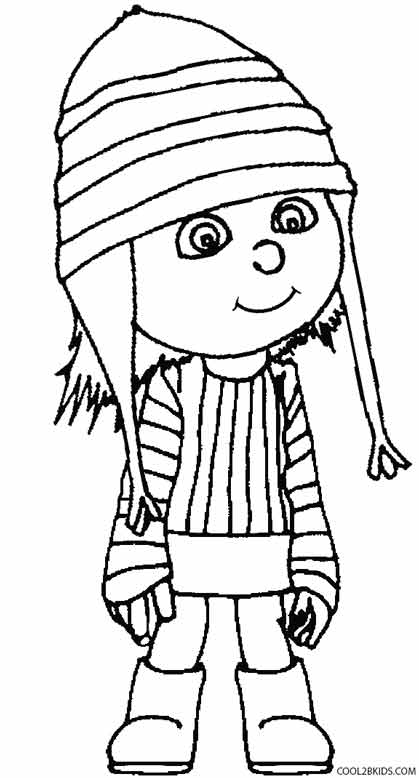 Despicable me coloring pages edith