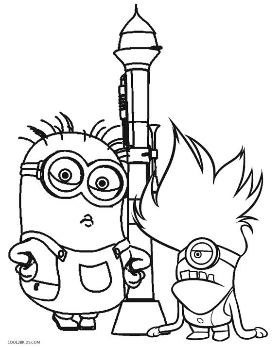 Ordinaire Despicable Me Coloring Pages For Kids