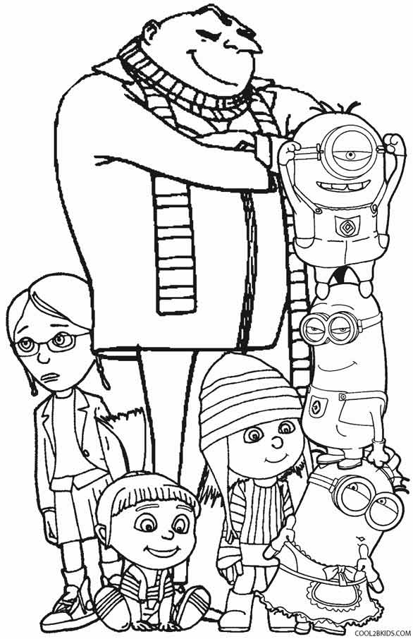 Printable despicable me coloring pages for kids cool2bkids for Despicable me coloring pages printable