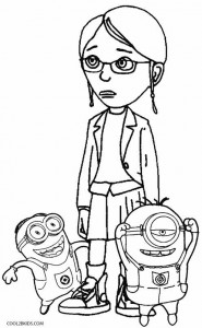 Despicable Me Margo Coloring Pages