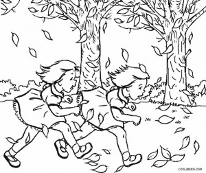 Fall Toddler Coloring Pages