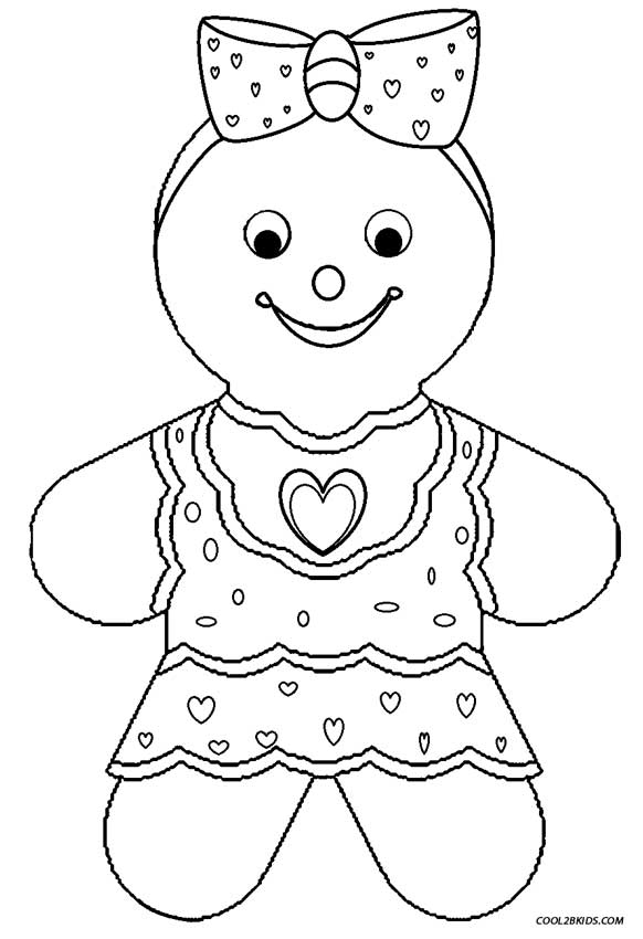 gingerbread girl coloring pages - Girl Color Pages