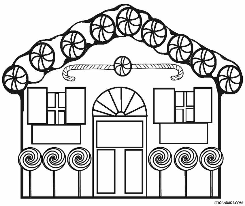 Coloring Pages Of House. Gingerbread House Coloring Page Printable Pages For Kids  Cool2bKids