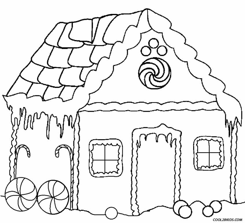 image relating to Printable Gingerbread House Coloring Pages named Printable Gingerbread Residence Coloring Web pages For Young children Neat2bKids