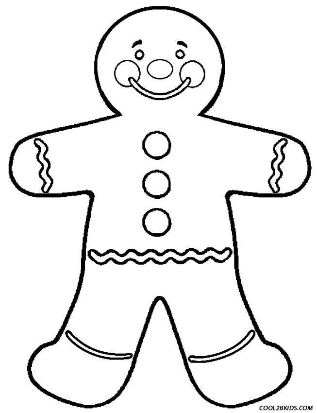 ginger man coloring pages - photo#5