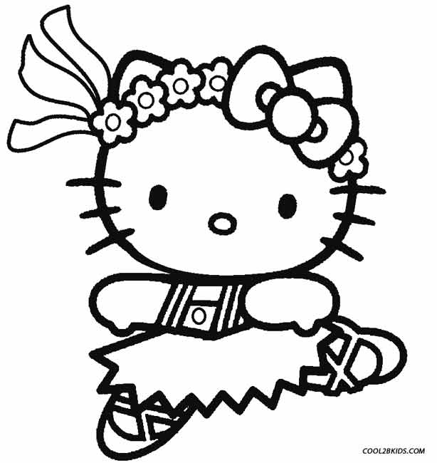 Printable ballet coloring pages for kids cool2bkids for Hello kitty coloring pages print