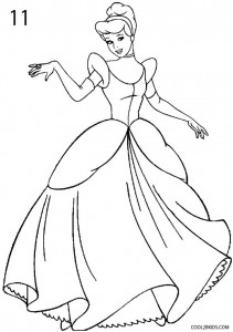 How to Draw Cinderella Step 11