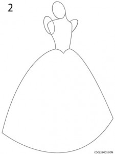 How to Draw Cinderella Step 2