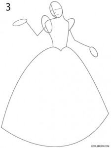 How to Draw Cinderella Step 3