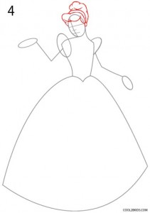 How to Draw Cinderella Step 4