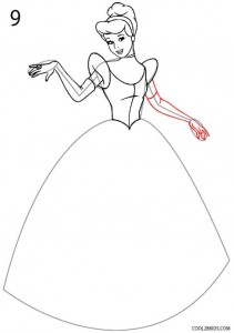 How to Draw Cinderella Step 9