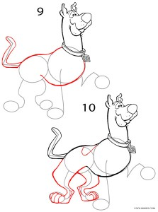 How to Draw Scooby Doo Step 5