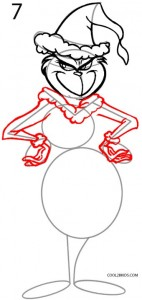 How to Draw the Grinch Step 7