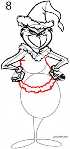 How to Draw the Grinch Step 8