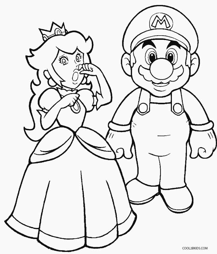 mario princess peach coloring pages - photo#4