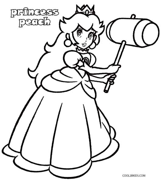 mario princess peach coloring pages - photo#9