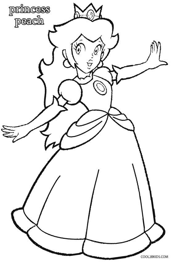 princess peach coloring pages - photo#14