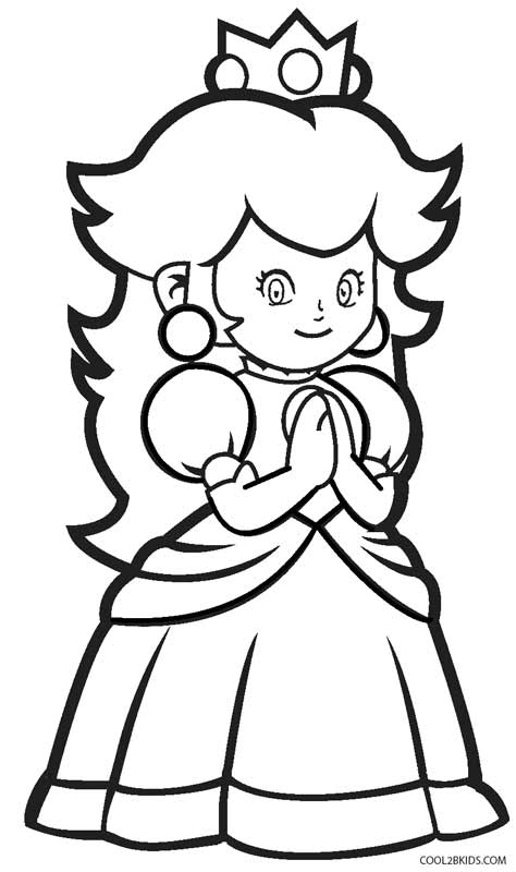 Princess Peach Coloring Page Coloring Pages