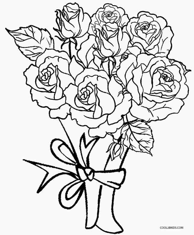 coloring pages roses printable rose coloring pages for kids cool2bkids
